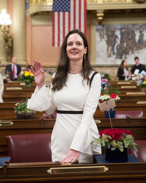 Ready to Lead: Borowicz Takes Oath as First-Ever Woman       State Representative in 76th Legislative District